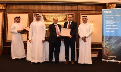IEEE honored Al Ain University in recognition of its effective efforts to the institution